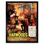 Advert Drink Alcohol Canadian Whisky Harwood Treasure King Court Framed Print