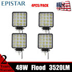 4pcs 48W LED Work Light Flood Pods Fits JK Truck Vehicle Chevy Ford In Stock US