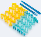 25-65cm 12pcs Water Wave Magic Curlers Formers Leverage Spiral Hairdressing Tool