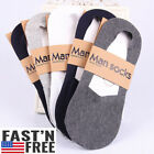 Anti-Slip Unisex Silicone No Show Socks Loafer Boat  Low Cut omen Men 1/5 Pairs