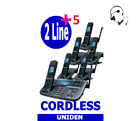Uniden XDECT R055+5 Two Line Digital Cordless Phone 6 Handsets Answer Machine
