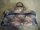 "Vintage Skyway Floral Tapestry Travel bag carry on hand bag EUC 20"" x 11"" x 11"""
