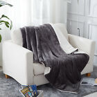 Plush Fuzzy Sherpa Throw Blanket for Couch Sofa Bed Microfiber Throw/Twin  image