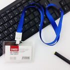 Acrylic Clear Business Office Work Badge ID Credit Card Case Holder Lanyard New