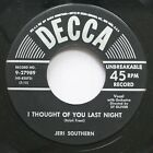 50'S & 60'S 45 Jeri Southern - I Thought Of You Last Night / Something I Dreamed