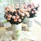6pcs Fake Single Rose Bouquet Artificial Flower Bouquet Home Wedding Party Decor