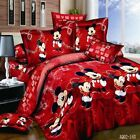 Bedding Set Mickey Mouse Quilt Duvet Cover Flat Sheet Pillowcase Queen King Bed image