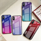 Tempered Glass Cover Gradient Phone Case For iPhone 6 6S 7 8 Plus X XS MAX XR