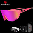 Внешний вид - QUESHARK 4Lens/Set New Design Polarized Cycling Glasses Bike Eyewear Goggles