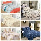3 Piece Lightweight Quilt Set Full Queen/King Soft Floral Print Coverlet Set image