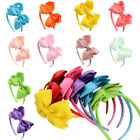 Girls Kids Hair Hoop Band Solid Bow Knot Headband Headwear Hairband Accessories