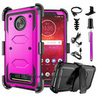 Shockproof Case Hard Protective Phone Cover For Motorola Moto Z3 / Z3 Play +Clip