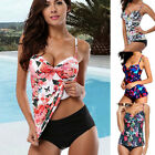 Womens Two Piece Tankini Floral Bikini Set Swimsuit Bathing Beachwear Plus Size $12.03 USD on eBay