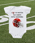 Kansas City Chiefs Onesie Shirt Helmet Design Love to Watch With Grandma on eBay