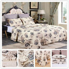 3Pc Quilt Set Bedspread Bedding Coverlet Set Floral King image