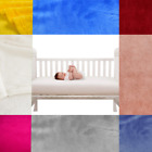 BABY TODDLER CRIB NURSERY WARM SMALL BED BLANKET REVERSIBLE THROW SOLID COLOR