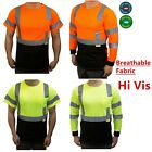 Hi Vis ANSI Class 3 Safety Shirt  Moisture Wicking Mesh Long Sleeve Reflective