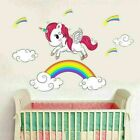 Rainbow Unicorn Wall Sticker Bedroom Decal Decor Interior Art Sticker Vintage