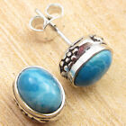 925 Silver Plated Blue Fire LABRADORITE & Other STONE Fashion STUDS Earrings NEW