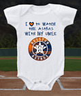 Houston Astros Onesie Bodysuit Shirt Love To Watch WIth My Uncle on Ebay