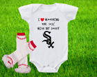 Chicago White Sox Outfit Onesie And Ruffle Leggings Set Watching WIth Daddy on Ebay
