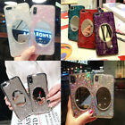 New Epoxy Makeup Mirror Luxury Fashion Phone Case Cover For iphone 6S 7 8+ XS XR