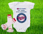Minnesota Twins Outfit Onesie And Ruffle Leggings Set Watching WIth Grandma on Ebay