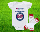 Minnesota Twins Outfit Onesie And Leggings Set Watching WIth Mommy on Ebay
