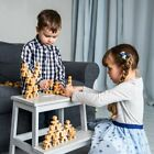 Montessori wood toy stacking puzzle set 300 pcs wood puzzle game family puzzle