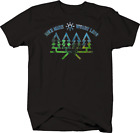Novelty Tshirt Men Hike More Worry Less Sun Trees Nature Trail