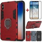 For Apple iPhone Xs Max/Xr/Xs/X Shockproof Stand Magnetic Case+Tempered Glass