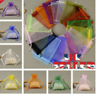10-100pcs Organza Gift Bags Wedding Party Favour  Jewellery Candy Pouches 5 Size