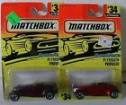MATCHBOX SUPERFAST 1997 - 2 VARIATIONS OF THE PYMOUTH PROWLER- CARD # 34
