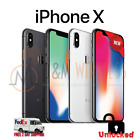 NEW Apple iPhone X A1901, Factory Unlocked All Colors  Capacity
