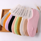10 Pack Womens Cotton Solid Invisible Casual Loafer No Show Nonslip Boat Socks