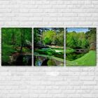 Augusta Golf Course - Masters Golfing 3 Panel Wall Art Canvas Panel Print