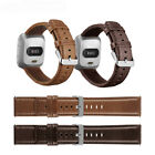 US Genuine Leather Strap Band WristBand For Fitbit Versa / 2 / Lite Smart Watch image