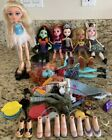 Bratz Dolls LOT 7 Dolls From 2012-2015 + Monster High Dollz + Accesories + Shoes