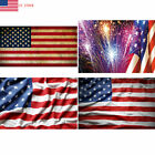4th July USA Flag Independence Day Stars Stripes Fireworks Photography Backdrop