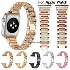 For Apple Watch 38/42/40/44mm Stainless Steel Band Women Bling Diamond Strap image
