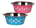 Qty of 2 Small Pet Dog Cat Stainless Steel Food  Water Bowl Puppy Kitten