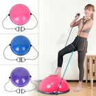 "24"" Yoga Half Ball Balance Trainer Exercise Fitness Strength Gym Workout w/ Pump image"