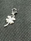 Silver 925 Four Leaf Clover Charm with Clasp
