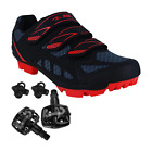 Внешний вид - Zol Predator MTB Mountain Bike and Indoor Cycling Shoes with Pedals and Cleats