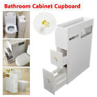 Bathroom Furniture Cabinet Toilet Paper Roll Holder Storage Organiser cupboard