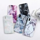 Marble Pattern Pastel Soft Phone Case Shockproof iPhone X 6 8 7 Plus Max 1Pc