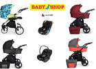 Used, Stroller Kunert Rotax 3in1 Carry Cot Pram Sport Seat Car Seat Adapters Trolley for sale  Shipping to South Africa