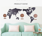 53 Wall clock, world map creative Nordic DIY living room 3d large size solid wo