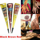 Natural Herbal Henna Cones Temporary Tattoo kit Body hena Mehandi ink DIY