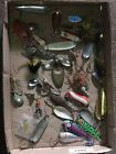 VINTAGE OLD FISHING LURES LOT ~ MIXED BAITS SPOONS  Paul Bunyan 66 Super Duper